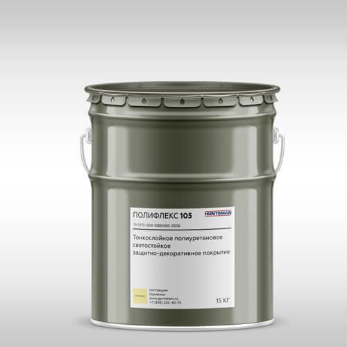 Полифлекс 105 — Тонкослойное полиуретановое защитно-декоративное покрытие  Тонкослойные покрытия пола и стен Poliflex 105