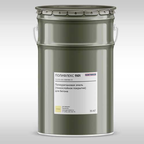Полифлекс 1101 —полиуретановая эмаль для защитного окрашивания бетонных полов и стен  Тонкослойные покрытия пола и стен Poliflex 1101